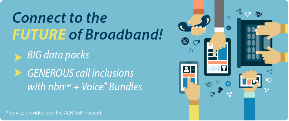 All new nbn™ Broadband + Voice Bundle plans