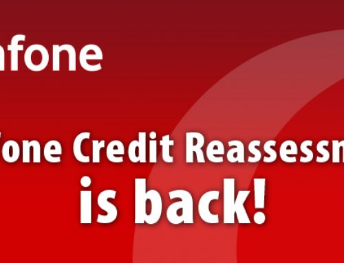 The Vodafone Credit Reassessment form is back