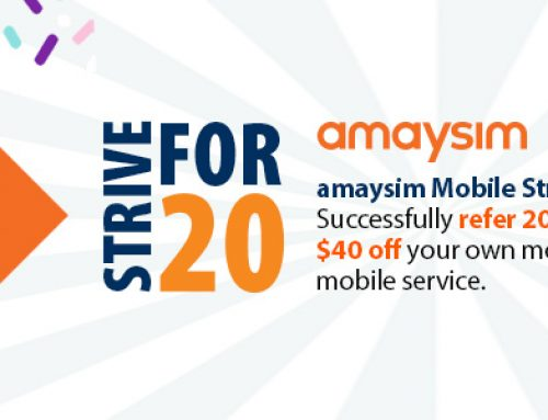 Introducing… amaysim Strive For 20!